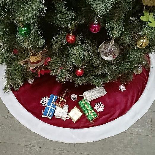 ANMOQI Falda De Árbol De Navidad De 48 Pulgadas con Capas Dobles ...