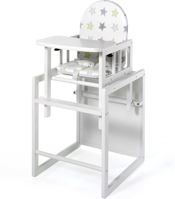 Blanc Chaise Haute Nico Chaise haute combinable Geuther /Étoiles