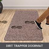 "Indoor Doormat Super Absorbs Mud Mat 47""x 28"" Latex Backing Non Slip Door Mat for Front Door Inside Floor Dirt Trapper Mats Cotton Entrance Rug Shoes Scraper Machine Washable Rug Carpet Large"