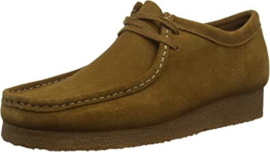 CLARKS ORIGINALS WALLABEE MENS COLA SUEDE SHOES