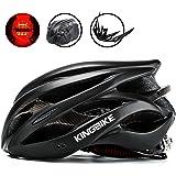 KINGBIKE Ultralight Specialized Bike Helmets CPSC&CE Certified with Rear Light + Portable Simple Backpack + Detachable Visor for Men Women(M/L,L/XL)