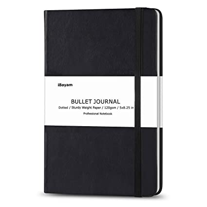 amazon com bullet journal dot grid hard cover notebook 120gsm