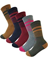 5Pack Women's Multi Performance Cushion Hiking/Outdoor Crew Socks Year Round