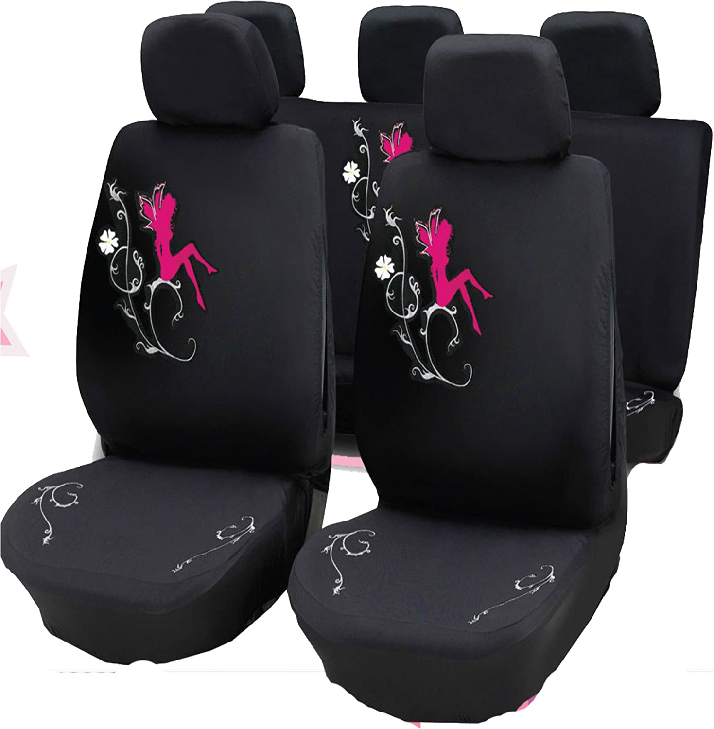 Wheels N Bits Hearts and Fairy Seat Covers Full Set Air Bag Ready Front /& Rear