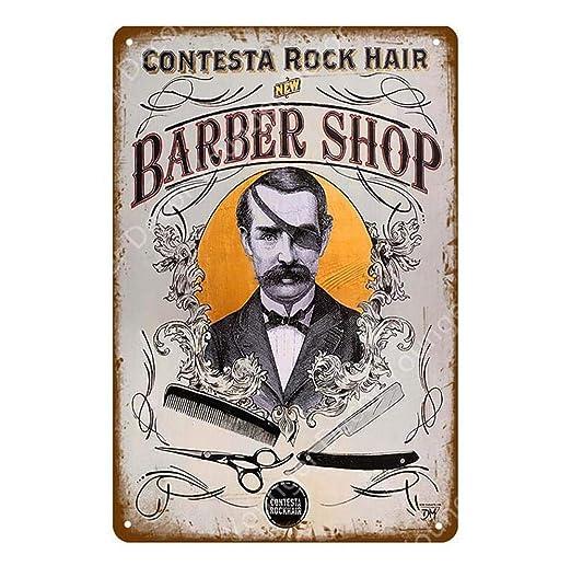 shovv Retro Barber Shop Vintage Cartel de Chapa Dormitorio ...