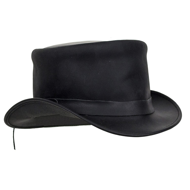 0e3d2005e95 CLASSIC BIKER LEATHER Black Naked Leather Deadman Top Hat  Amazon.co.uk   Clothing