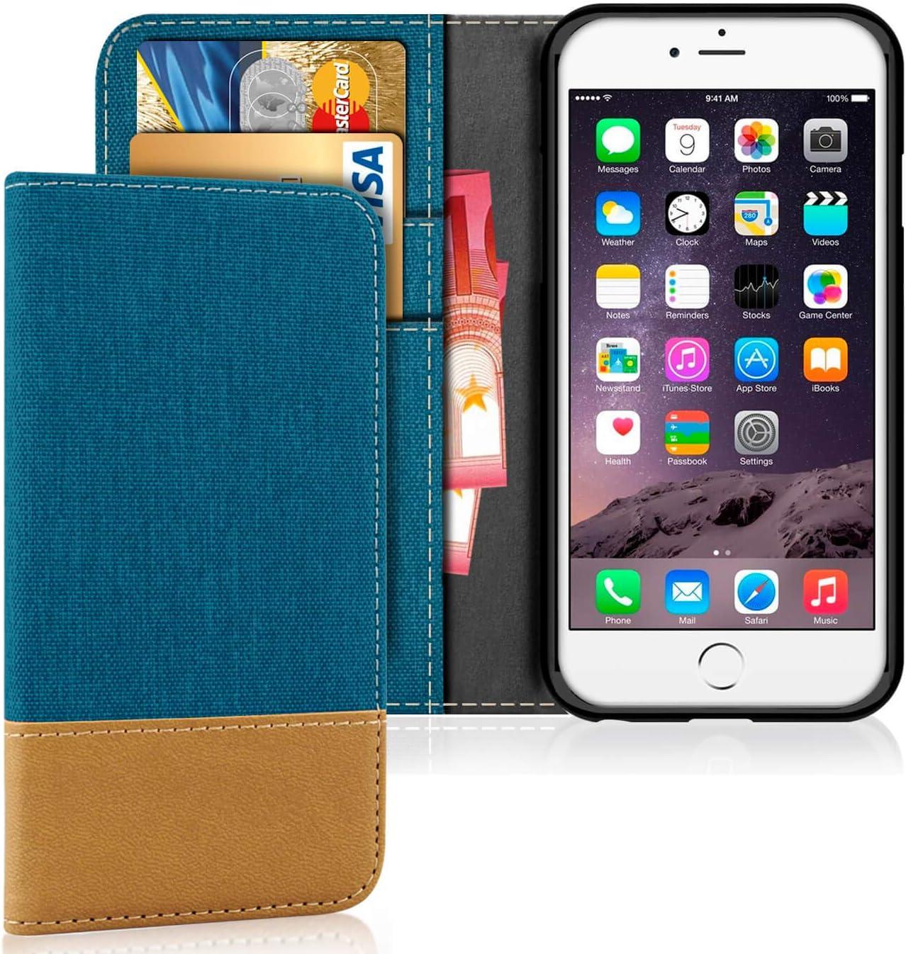 Orange United Case Leather Bumper for Apple iPhone 6 6s Credit Card Slot Holder