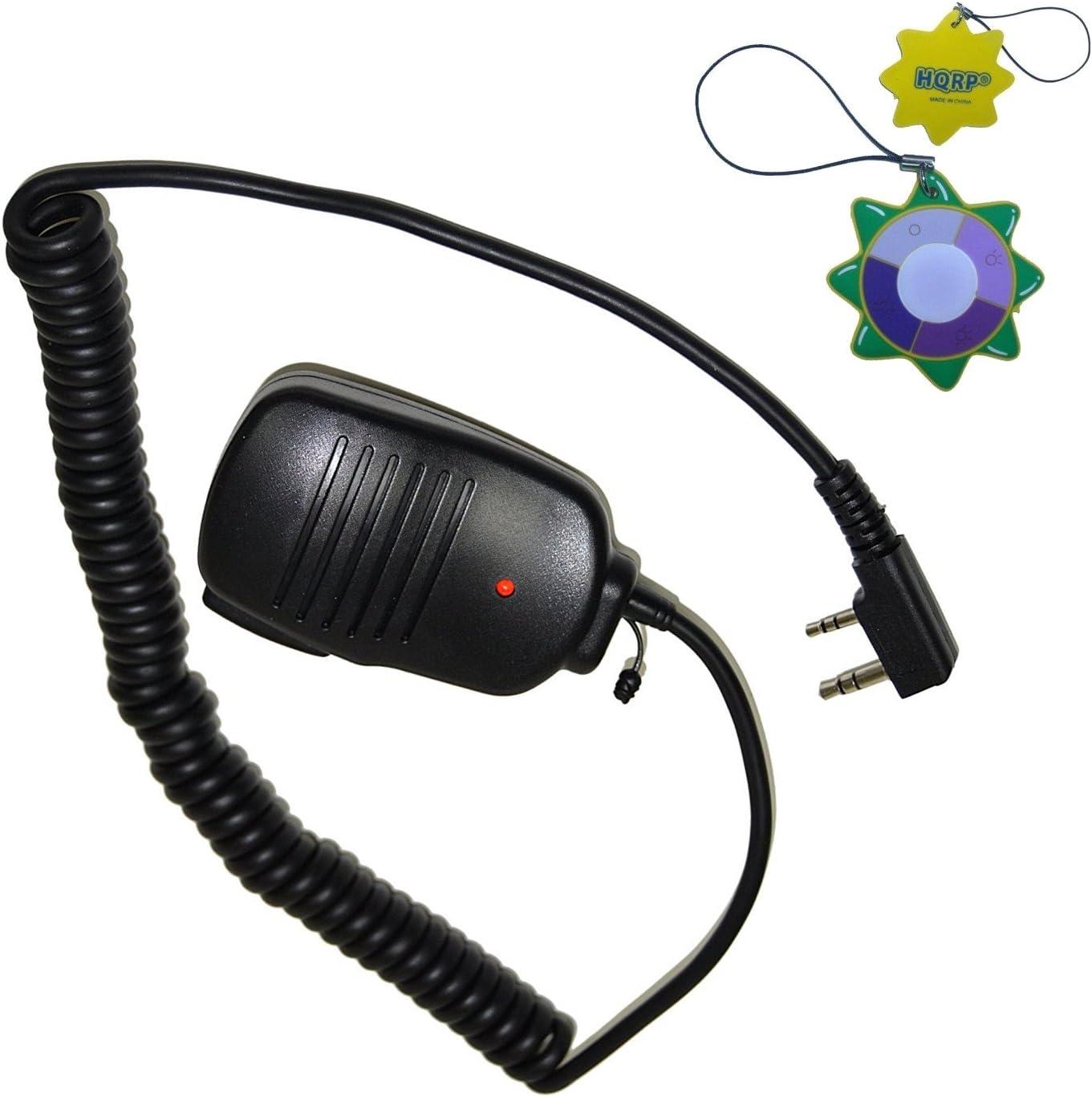 2-Pack HQRP 2 Pinnen Mini Lautsprecher Mikrofon Für Kenwood Th TK Serie Zweiwege