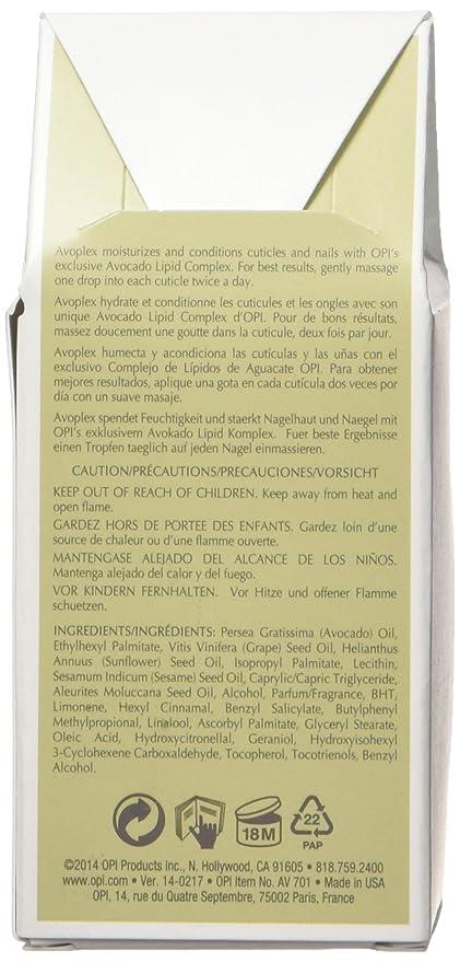 OPI Avoplex - Aceite restaurador para uñas y cutículas, 7.5 ml ...