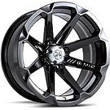 MotoSport Alloys M12 Diesel Gloss Black ATV Wheel UTV Wheel (14x7'/4x110)