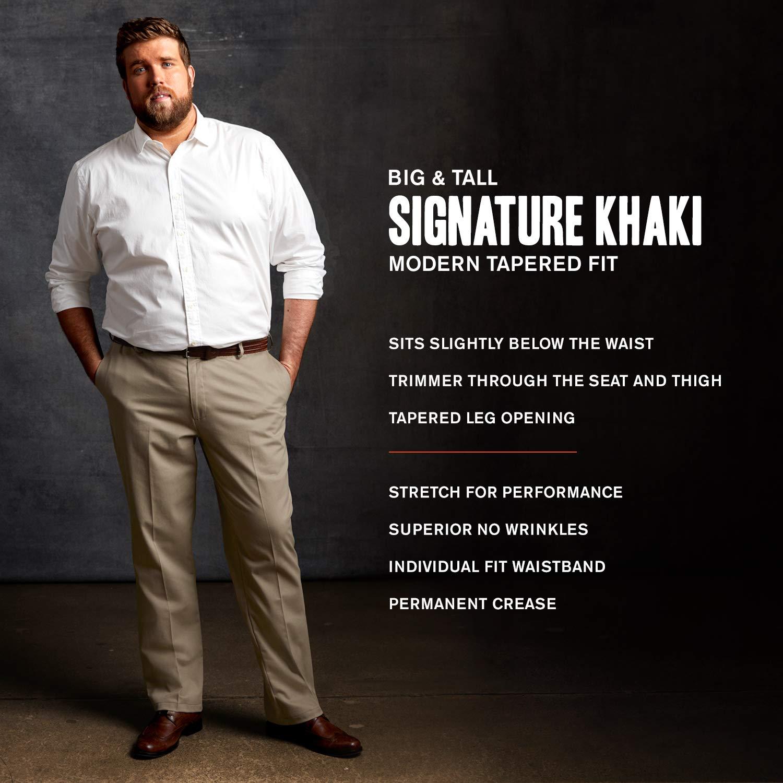 Dockers Men's Big and Tall Modern Tapered Fit Signature Khaki Pants, Burma Grey, 48W x 29L by Dockers (Image #3)