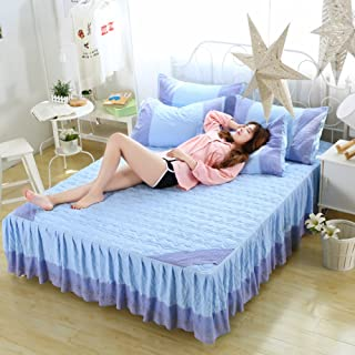 GX&XD Bed Skirt Bedspread Bed Sets Single Quilted Korean Version Thicken-D 180x220cm(71x87inch) Version A