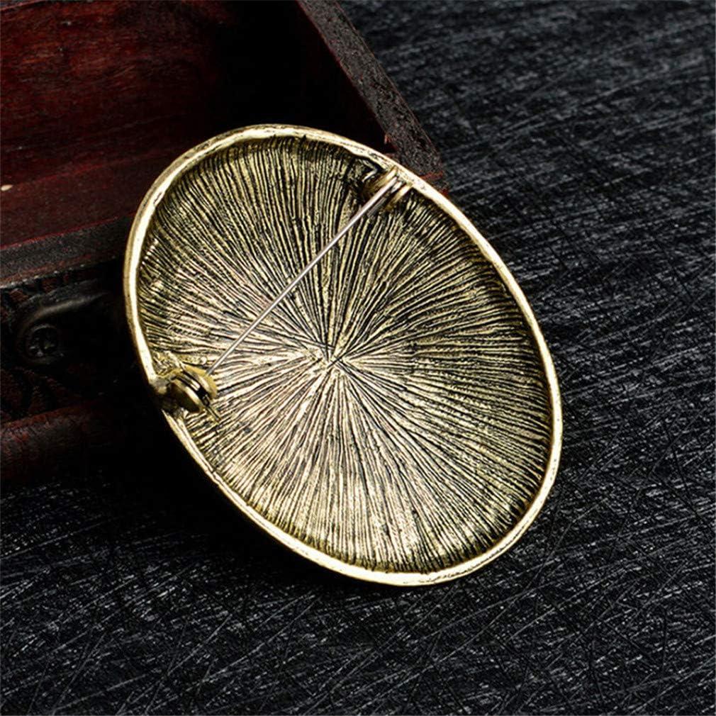Jixing Insigne damulette Vintage de Broche de mod/èle de Loup Nordique de Viking Nordique pour Le Cadeau W 5.8 L Argent 4.2cm