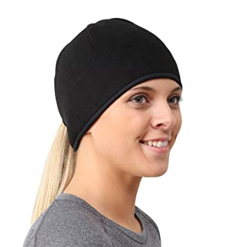 a6d3cdecbd3 TrailHeads Womens Running Ponytail Hat - black   black  Amazon.co.uk ...