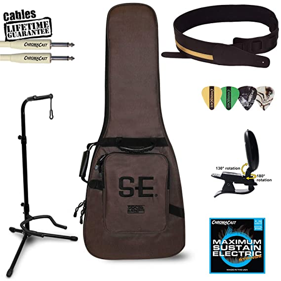 Paul Reed Smith se Santana guitarra eléctrica Kit (Santana amarillo) - incluye: sintonizador, cable, correa, soporte, púas y PRS Gig Bag: Amazon.es: ...