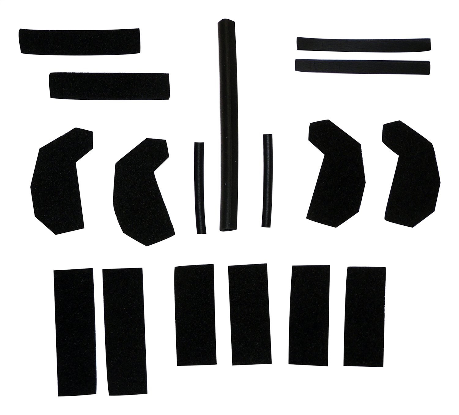 Crown Jeep Hard Top Seal Kit Black (w/ Hard Top;Kit Contains Various Seals to Repair Leaks;Used in connection with Mopar TSB #23-001-07 and 23-025-08)
