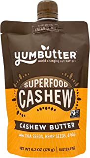 product image for Superfood Cashew Butter by Yumbutter, Gluten Free, Vegan, Non GMO, 6.2oz Pouch
