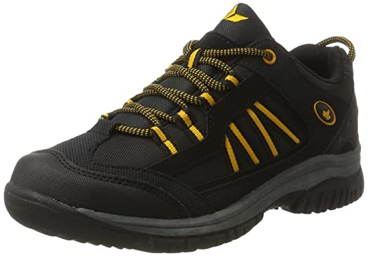 Lico River, Zapatos de Low Rise Senderismo para Hombre, Negro (Schwarz/Orange Schwarz/Orange), 41 EU