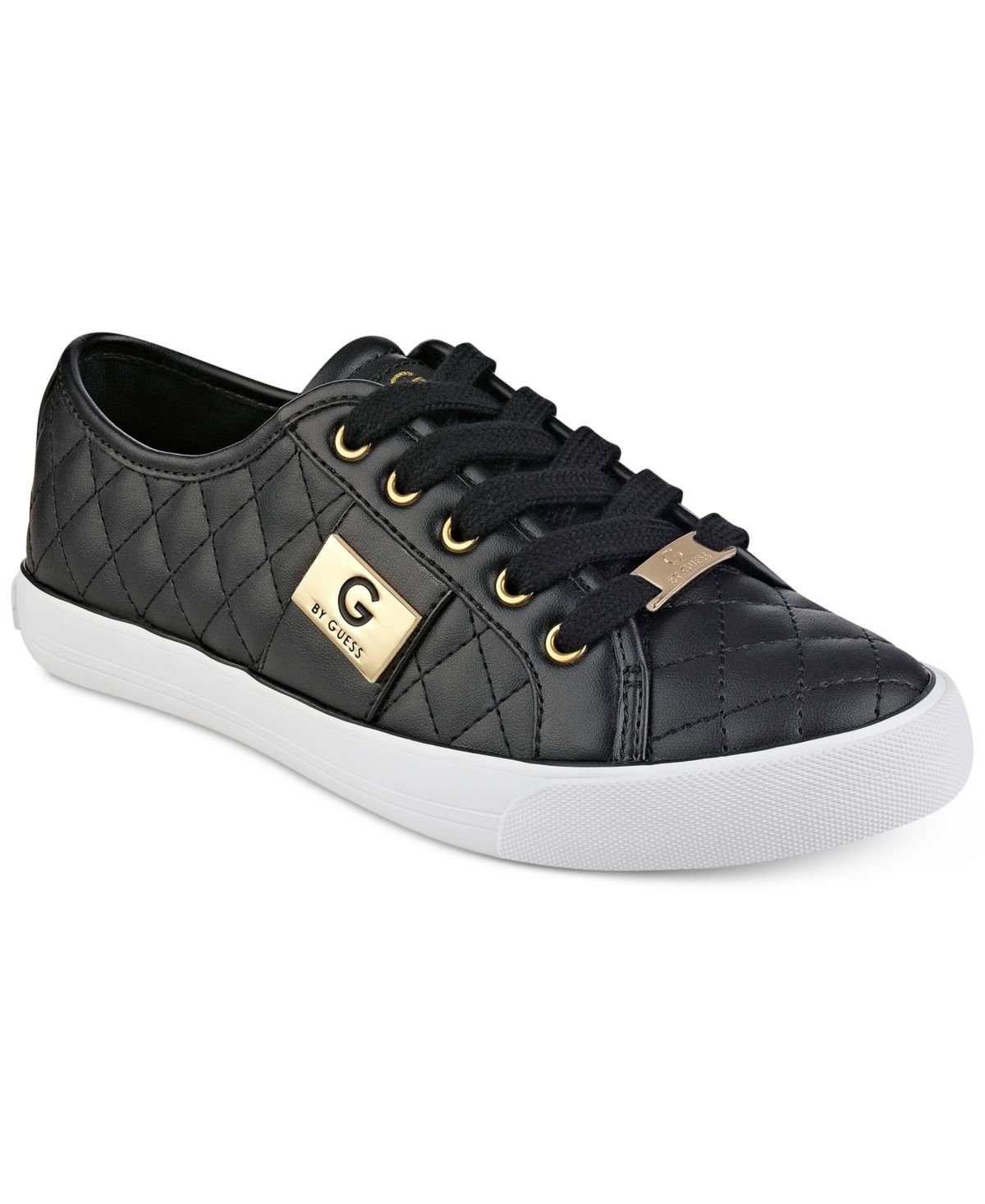 G by GUESS Backer2 Women's Lace-up Sneakers Shoes B076BW7GZQ 7.5 B(M) US|Black