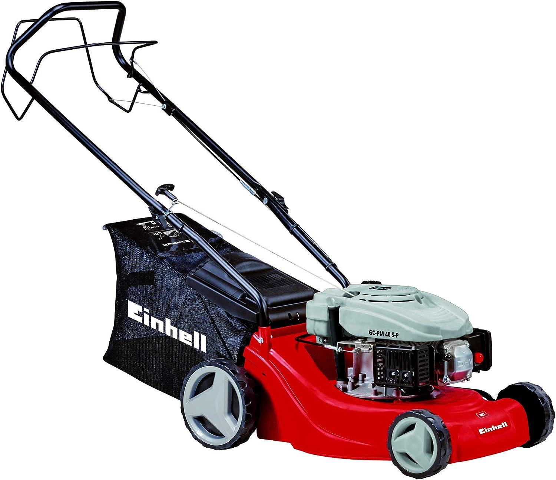 Einhell GC-PM 40 S-P Cortacésped de gasolina (1200 Vatios, altura de corte 5 niveles   25-60 mm , ancho de corte 40 cm, hasta 1000m² de jardín, 50L de capacidad de bolsa) (ref.3404780)