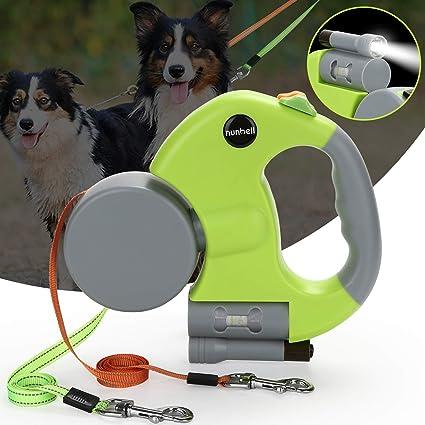 "Blue 15/"" Retractable Pet Dog Puppy Leash Flashlight w// Plastic Waste Poop Bag"