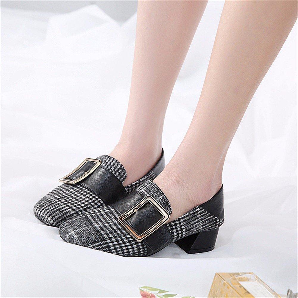YUCH Schuhe Schuhe mit Grob Faul Schuhe YUCH Quadratische Schnalle b969fa