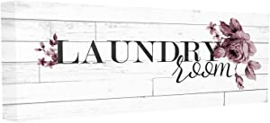 The Stupell Home Décor Collection Vintage Chic Laundry Room Stretched Canvas Wall Art, 10 x 24