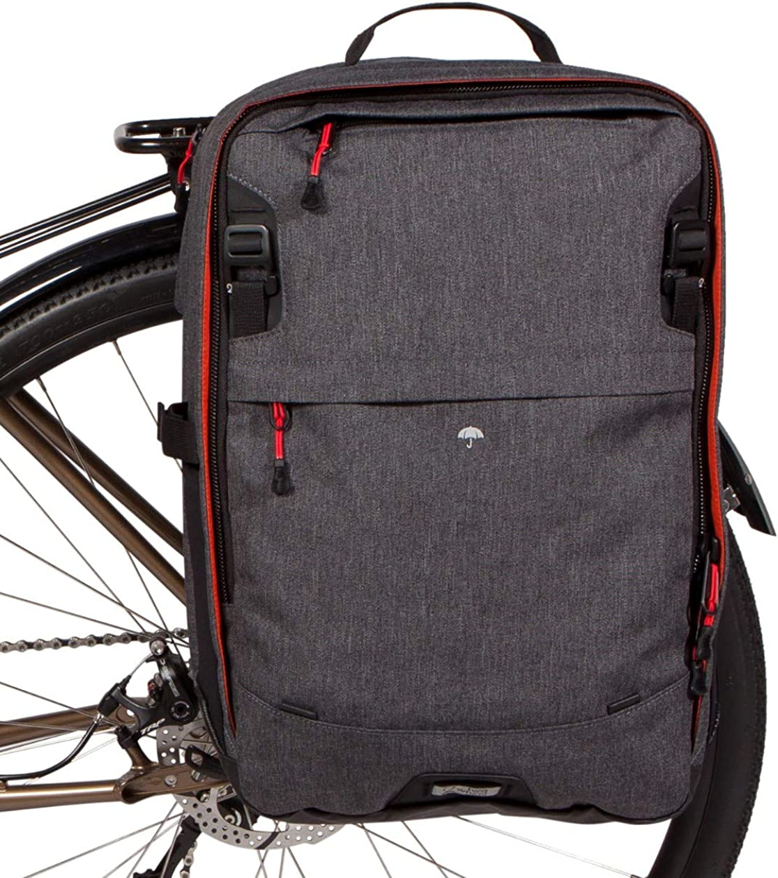 Two Wheel Gear - Pannier Backpack Convertible - 2 in 1 Bike Commuting and Travel Bag