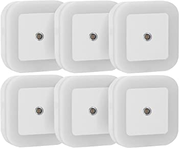 6-Pack Sycees 0.5W Plug-in LED Night Light Lamp