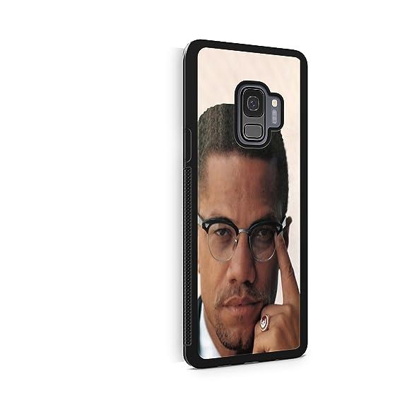 amazon com malcolm x color photo protective rubber phone case