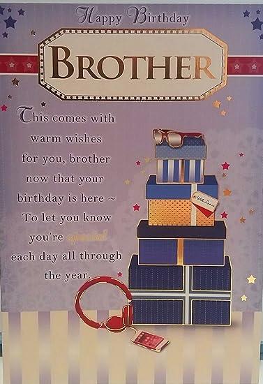 Amazon Com Happy Birthday Brother Birthday Greeting Card New