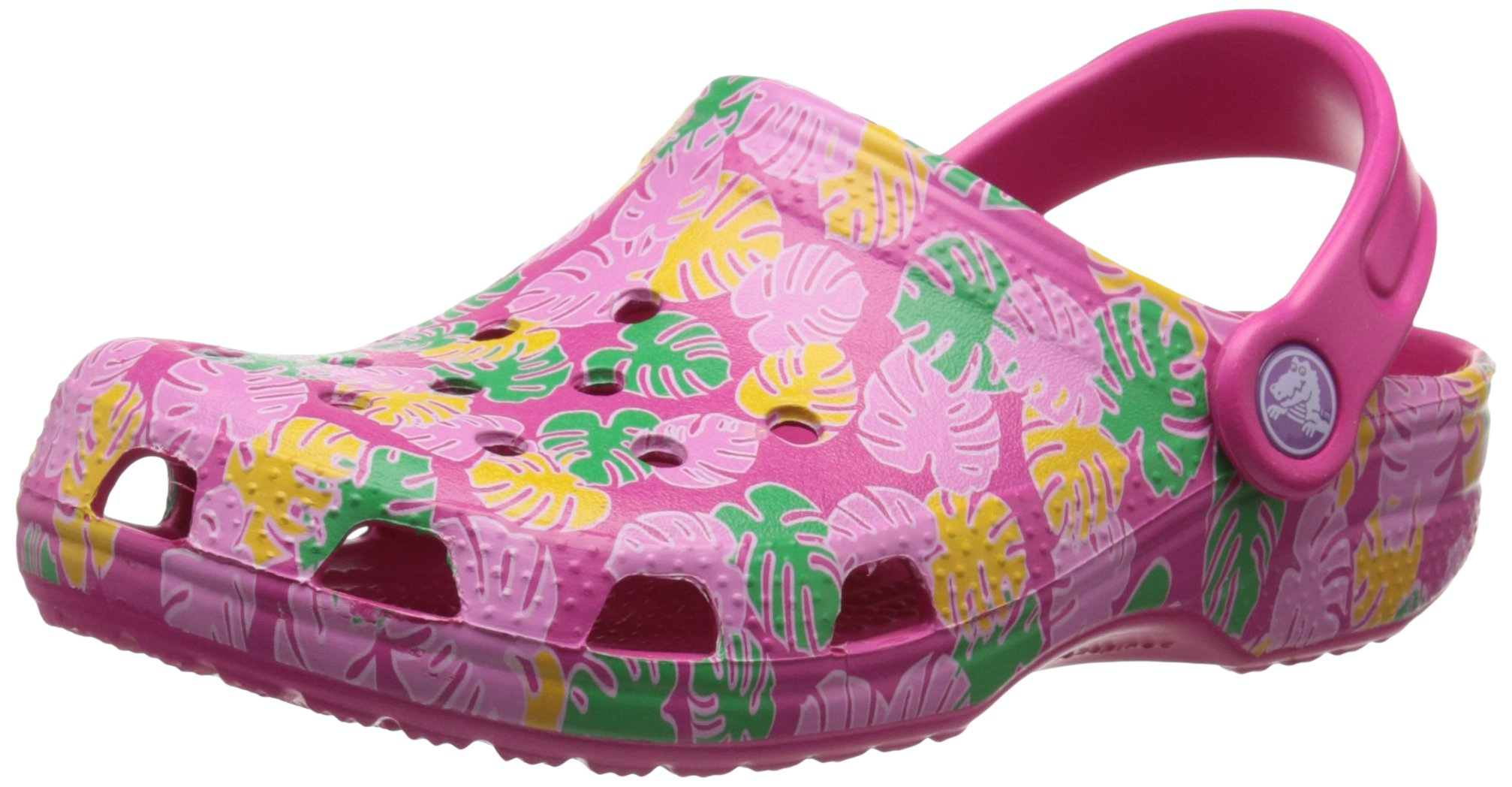 crocs Classic Tropical K Clog (Toddler/Little Kid/Big Kid), Candy Pink, 3 M US Little Kid by Crocs