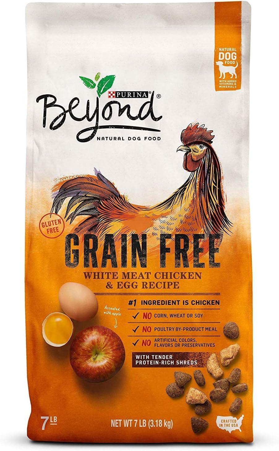 Purina Beyond Grain Free, Natural Dry Dog Food; Grain Free White Meat Chicken & Egg Recipe - 7 lb. Bag