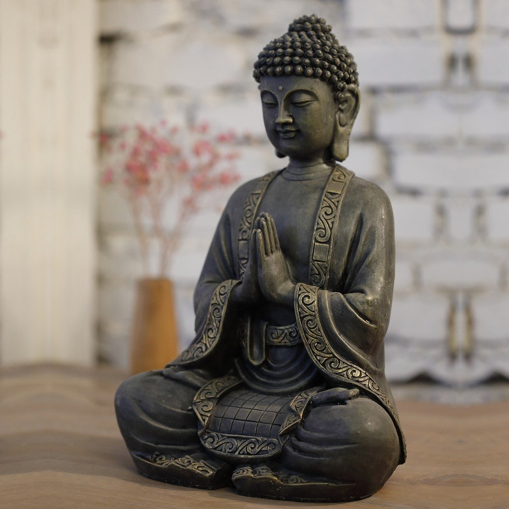 30/x 25/x 50/cm Bonzo zen Light mediazione Statua di Buddha Resina