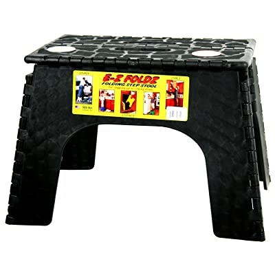 "B & R Plastics Black 12"" B&R Plastics 103-6BK E-Z Foldz Folding Step Stool-12: Automotive"