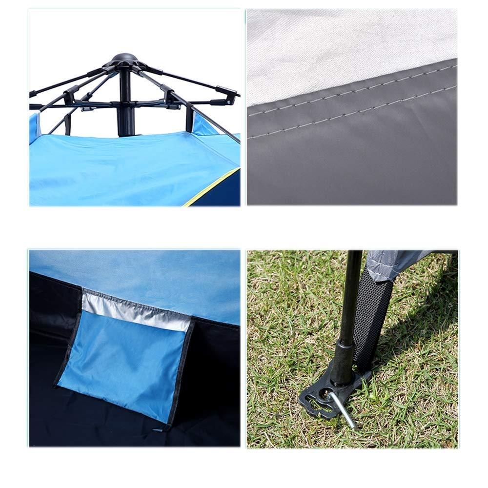 Tiendas de campaña CNKSKXK-tent Tienda de campaña para Acampar al Aire Libre 3-4 Tienda de protección Solar a Prueba de Lluvia de Apertura rápida Estilo Primavera