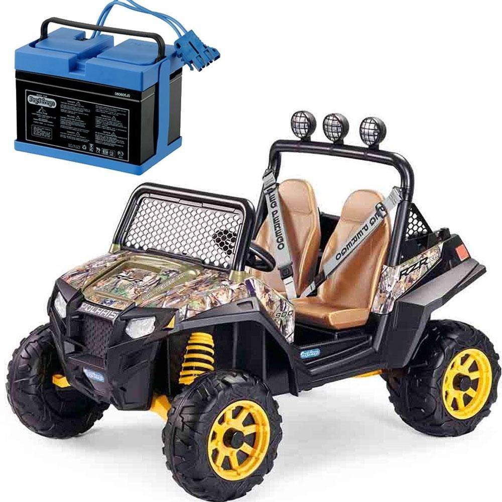 Amazon.com: Peg Perego Polaris RZR 900 con 12 V cargador de ...