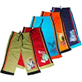 Laraa Multicolour Kids Unisex Cotton 3/4 th Pants for Boys and Girls(Pack of 5)