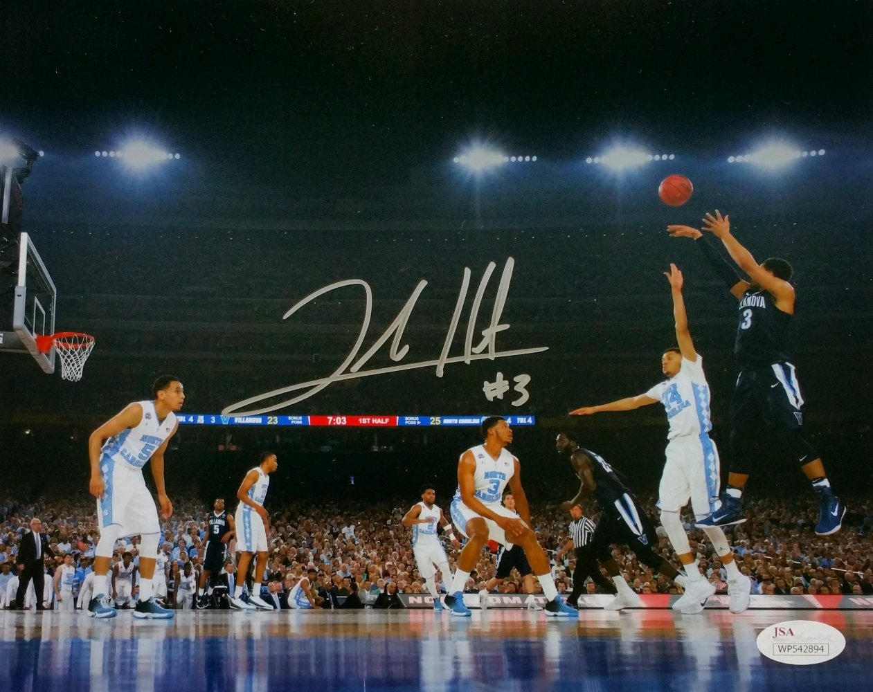 Josh Hart Signed Villanova 2016 National Championship Game 8x10 Photo JSA