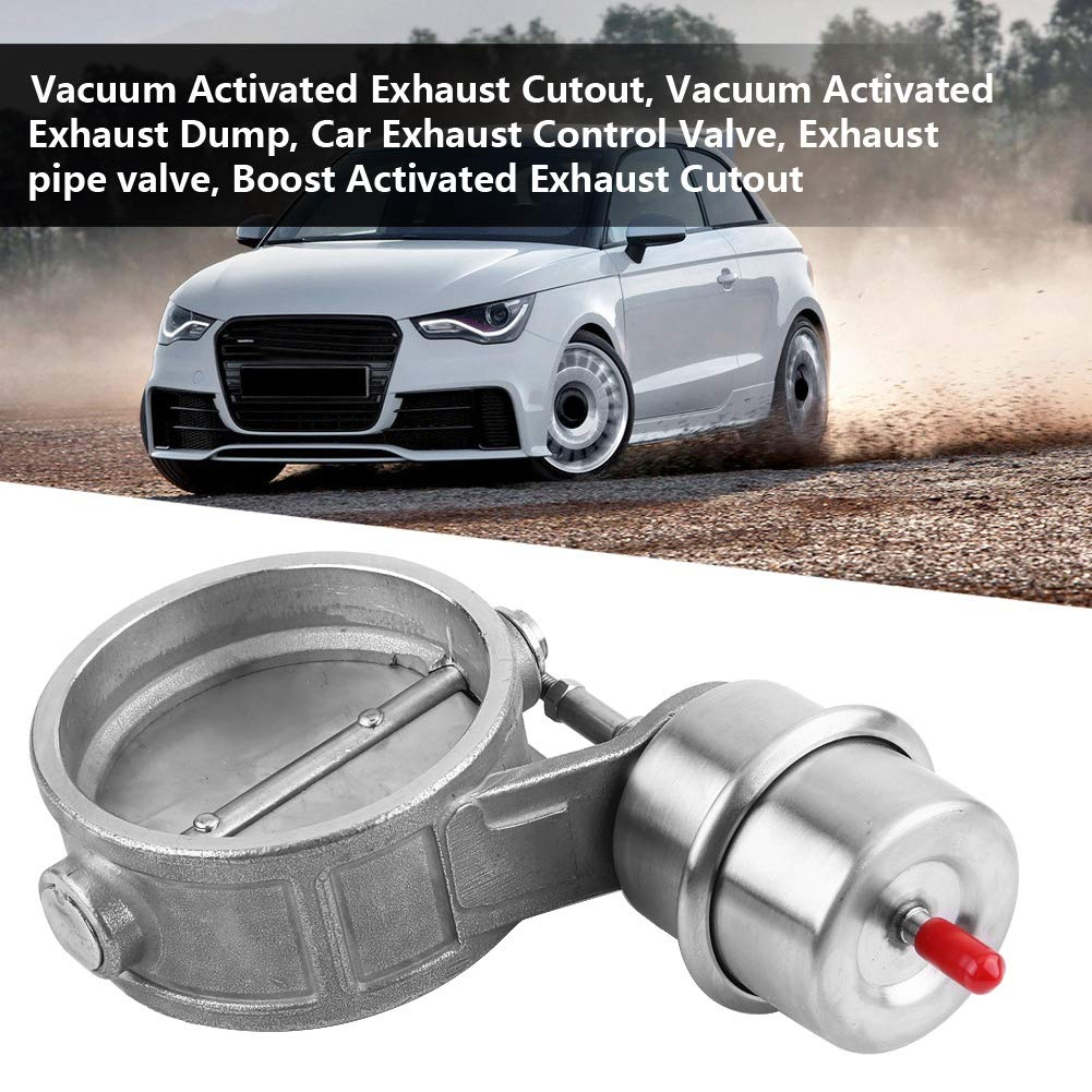 Optional Open Style Ejoyous Diameter 3in Stainless Steel Car Exhaust Control Valve,Boost Vacuum Activated Exhaust Cutout//Dump with Closed//Open