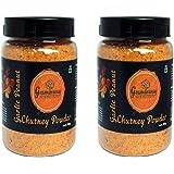 Graminway Homemade Chutney Powder, Pack of 2, 200 gm Each (Garlic Peanut Chutney Powder)