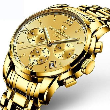 YWHY Los Mejores Relojes de Marca de Lujo Cronógrafo Relojes Deportivos Reloj de Cuarzo de Hombres