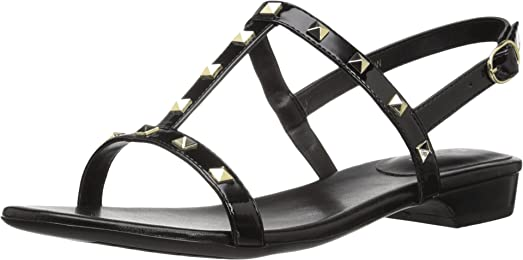 Womens Sandals Vaneli Baina Black Ferns Patent