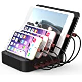KeyEntre 5 Port Charging Station for Smartphone Tablet PC Charger Organizer for multiple Devices (5 Ports)