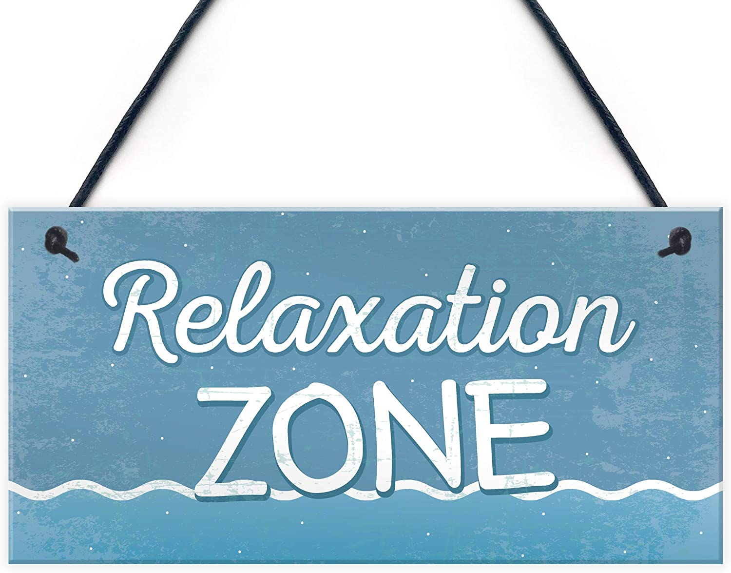 Relaxation Zone Hot Tub Man Cave Bathroom Garden Plaque Hanging Shed Chic Sign Home Decor