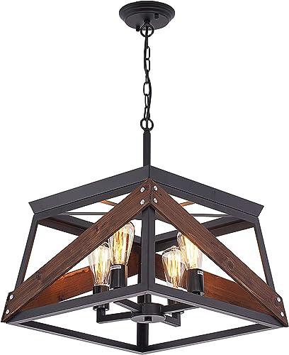 Airposta 4-Light Farmhouse Ceiling Pendant Light Fixture