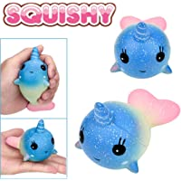 Junshion Stress Reliever Whale Scented Super Slow Rising Kids Toy Gifts