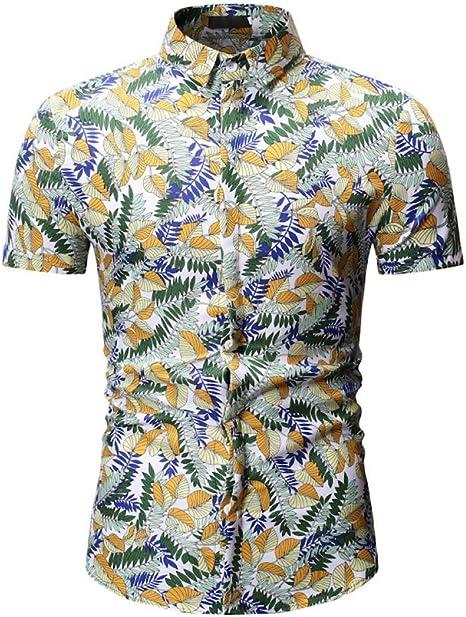 XJWDTX Camisa De Flores De Manga Corta para Jóvenes De Verano con Solapa Floral Delgada para Jóvenes: Amazon.es: Deportes y aire libre