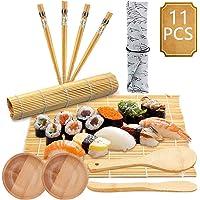 BESTZY 11pcs Kit para Hacer Sushi de Bambú