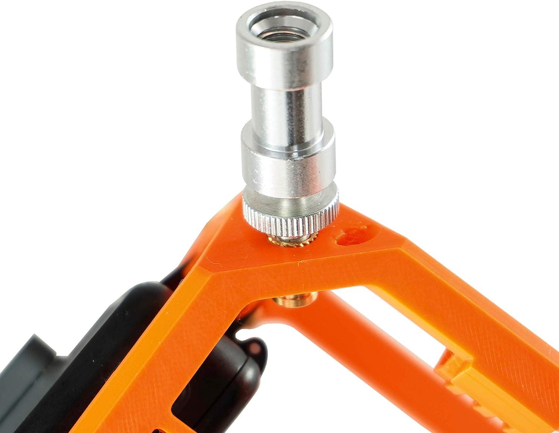 conectores roscados de lat/ón Rosca de rosca M2//M3//M4//M5 caja surtida ruthex tuerca de prensado para piezas de pl/ástico 270 unidades por calor o ultrasonido en piezas de impresora 3D